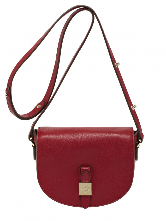 Tessie Small Satchel Soft Small Grain Poppy Red